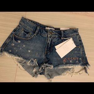 Limited edition denim shorts